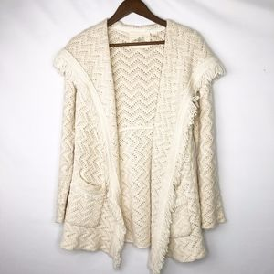 ANTHROPOLOGIE Angel of the North Chunky Sweater M